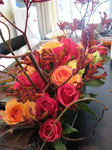 flower arrangement for the main table