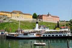 Bodensee / Meersburg (Habub3) Tags: travel water architecture buildings germany landscape deutschland photo search nikon architektur steamship hafen bodensee landschaft steamer dampfschiff d300 meersburg lakeconstance hohentwiel serach viewonblack habub3