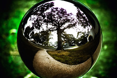 Planet Earth (RLJ Photography NYC) Tags: reflection green ball mirror earth planet mywinners aplusphoto youvsthebest flickrlovers thepinnaclehof