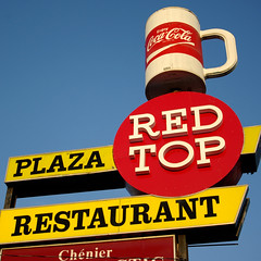 Red Top (bryanscott) Tags: red sign vintage typography restaurant winnipeg cola top manitoba signage type coca typog