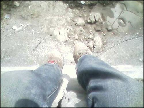 sittin on wall