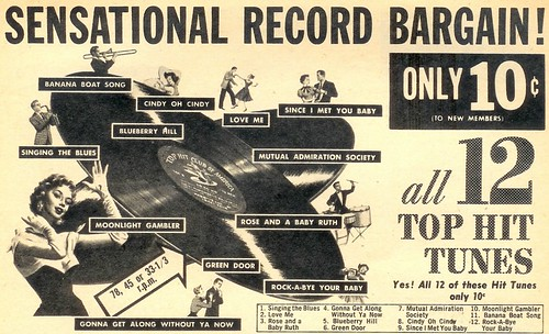 Sensational Record Bargain - 1957 (by senses working overtime)