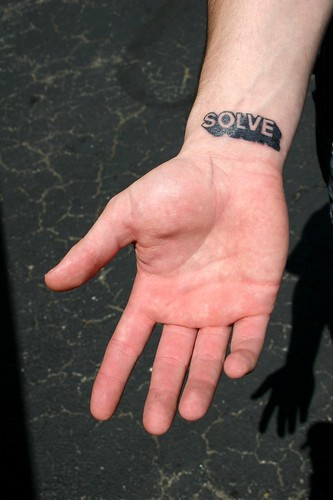 Hurricane Katrina survivors sport memorial tattoos. SOLVE memorial tattoo