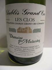 2005 Domaine des Malandes Chablis Grand Cru Les Clos (Daniel (Jiuwine.com)) Tags: des domaine malandes