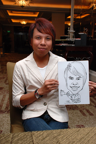 caricature live sketching for wedding dinner 120708  - 55