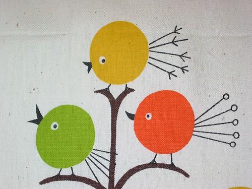 Vintage Mod Circle Birds