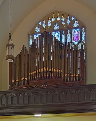 Visitation-Saint Ann Shrine, in Saint Louis, Missouri, USA - pipe organ