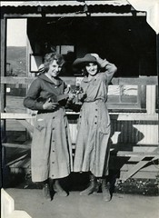 Cowgirls Backstage (Bodie Bailey) Tags: california family film losangeles silent hollywood movies cowgirl silentfilms idabailey christiestudios