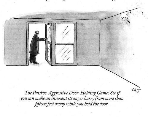 The Passive-Aggressive Door-Holding Game