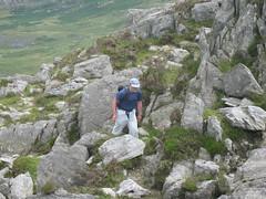 David Ascending Tryfan (Bishopstown Hillwalking) Tags: wales crib tryfan goch