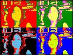 Puff a lump :)) (M'sheArt2 Photography) Tags: me macintosh mac photobooth colours moi xxx goofball wethair myinitials puffedcheeks  poparteffect ms2