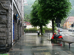 Nygaten (Michelsen Photography) Tags: street city summer colour rain norway lumix vespa motive bergen 2008 zazzle nygaten otw allrightsreserved roymichelsen httpwwwzazzlecomneslehcim motive4u2see