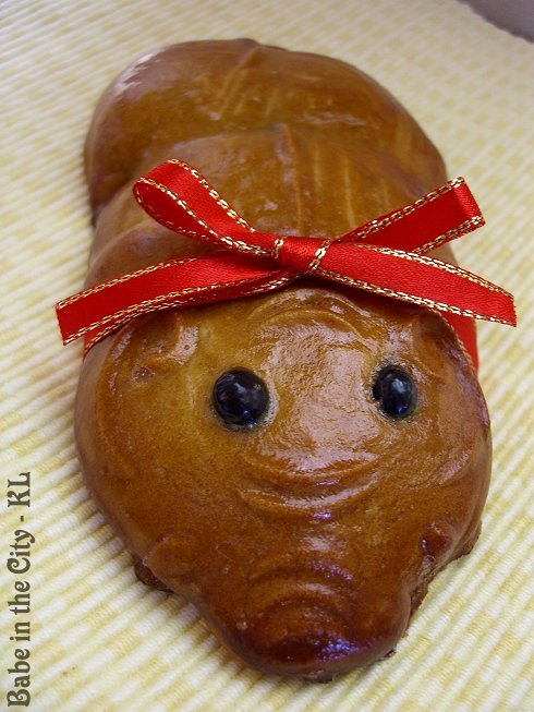 Moulded Piggy Festive Biscuits - Dau Sar filling