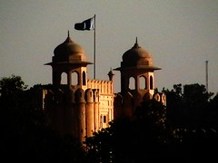Lahore Fort Illuminated by Fading Sun