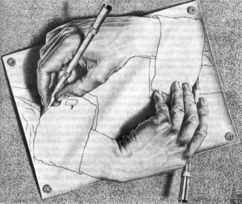 'Tegnede hænder'