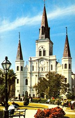 St. Louis Cathedral post card (Vernon Parish Library) Tags: cathedrals postcards stlouiscathedral neworleansla