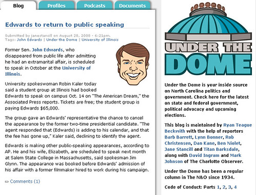 Under the Dome's coverage of DNC
