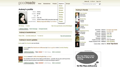 Goodreads is my social cataloging site of choice