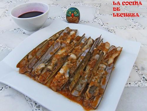 Navajas-plato salsa 2