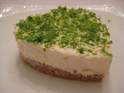 Lemon Cheesecake w/Lime Zest