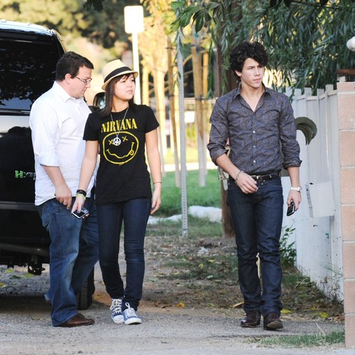 Nick Jonas Visits a Family Friend