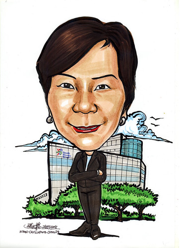 Caricature for Health Promotion Board