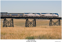 AMTK 91 & 192 (Robert W. Thomson) Tags: railroad train montana diesel railway trains amtrak locomotive trainengine genesis ge empirebuilder passengertrain cutbank p42 amtk amd103 p42dc fouraxle