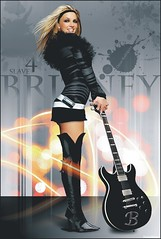 Britney Spears [Electric Guitar] ( Omar Rodriguez V.) Tags: b black art beautiful fashion rock electric magazine dark lights photo artwork glamour photoshoot princess rockstar boots guitar spears circus 4 fake popart single singer draw blackout q omar edition britney edit rodriguez slave corel photopaint inthezone womanizer slave4britney