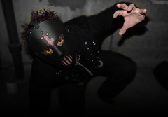 scary man coming to get you (citygirlny10305) Tags: black dark scary eyes hand mask scared