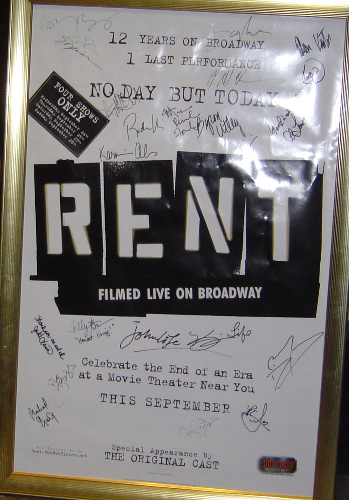 Rent autographed poster