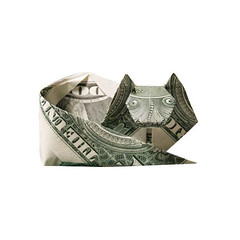Moneygami Cat