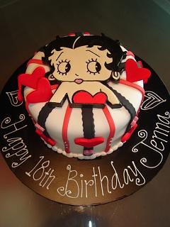 Fine Betty Boop Birthday Cake A Photo On Flickriver Personalised Birthday Cards Veneteletsinfo