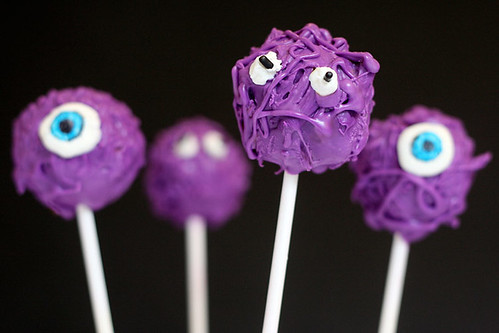 Purple Monster Cake Pops