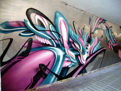 my piece (mrzero) Tags: streetart detail art colors lines wall effects graffiti 3d mural paint hungary eger letters style tunnel spray styles colored graff cfs hepi mrzero