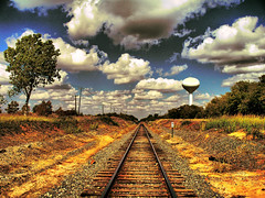 Golden Rail to the Sky (Jeff Clow) Tags: railroad weather clouds rural vanishingpoint texas searchthebest rail railway dfw bec soe jeffclow bej jeffrclow top20texas vosplusbellesphotos ubej naturescreations