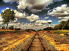 Golden Rail to the Sky (Jeff Clow) Tags: railroad weather clouds rural vanishingpoint texas searchthebest rail railway dfw bec soe jeffclow bej ©jeffrclow top20texas vosplusbellesphotos ubej naturescreations