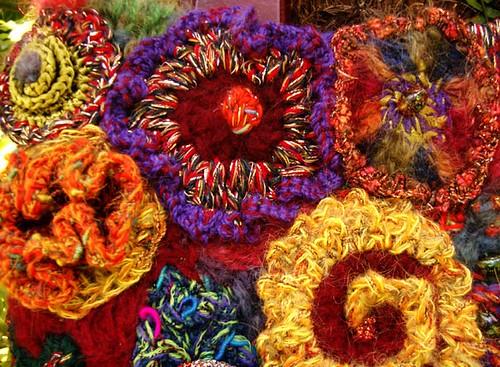 freeform crochet flowers