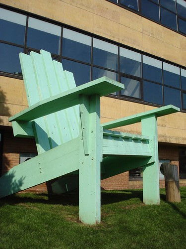 Giant Green Adirondack Chair