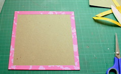 Covering the chipboard