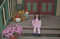 Mina in her PJs