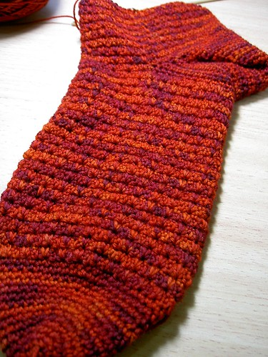 Wollmeise crocheted sock
