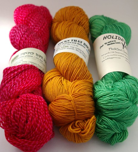 Sock yarn Rhinebeck purchases