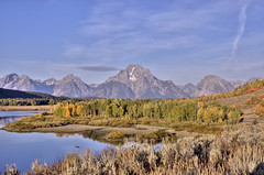 "autumn on the oxbow (Matt ""Linus"" Ottosen) Tags: park autumn fall yellow raw searchthebest bend grand mount national wyoming mountmoran teton aspen moran hdr oxbow grandtetonnationalpark photomatix gtnp oxbowbend singleraw"