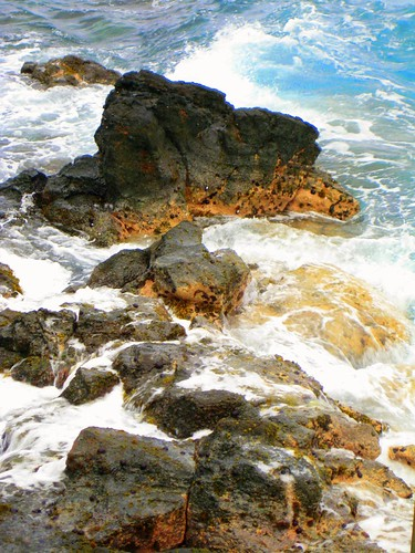 Hawaii - the water & rocks