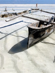 Shadows in the sand (mattk1979) Tags: africa shadow white tanzania boat fishing sand indianocean ripples zanzibar stranded dhow paje