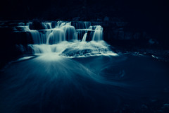 dream as memory ([Adam Baker]) Tags: blue canon waterfall dream surreal swirls portfolio taughannock 24105l adambaker 40d ndx400 featuredonadidapcom
