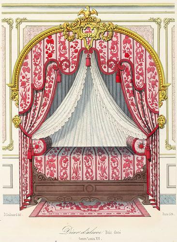 016-Decoracion de alcoba- en madera dorada estilo Luis XV
