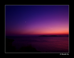 (61) Evening Glory (Andros, Cyclades, Greece) (Berlinalex) Tags: ocean travel blue light sunset sea summer sky color tourism nature water beautiful night landscape geotagged island coast heaven mediterranean postcard horizon aegean violet olympus clear greece grecia griechenland andros cyclades grece kste e510 batsi  kykladen gis ysplix  alemdagqualityonlyclub
