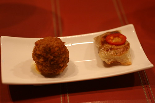 Oxtail Croquette and Tortilla