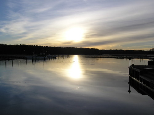 Auringonkiila meressä